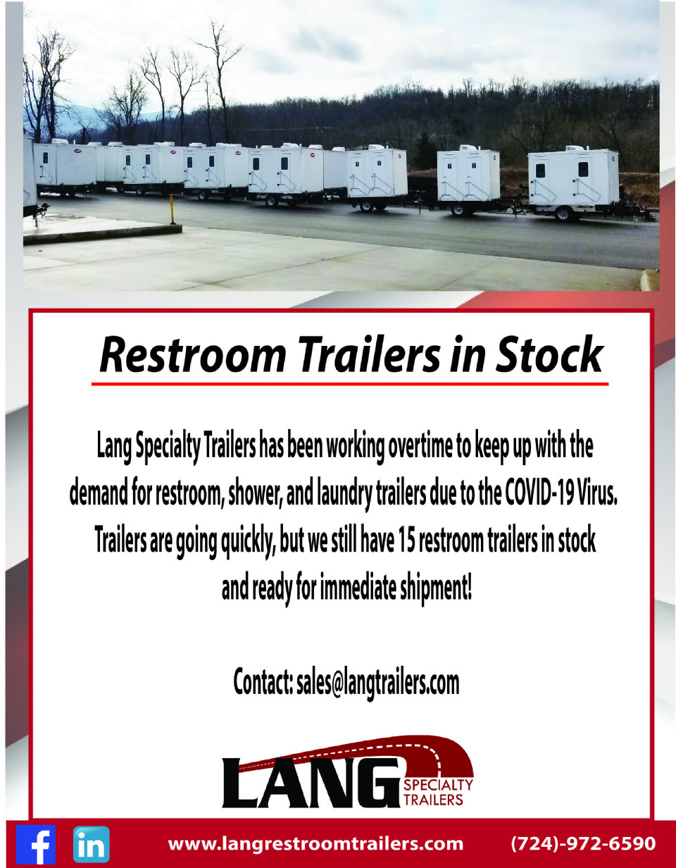 Restroom Trailers Ready for Immediate Shipment