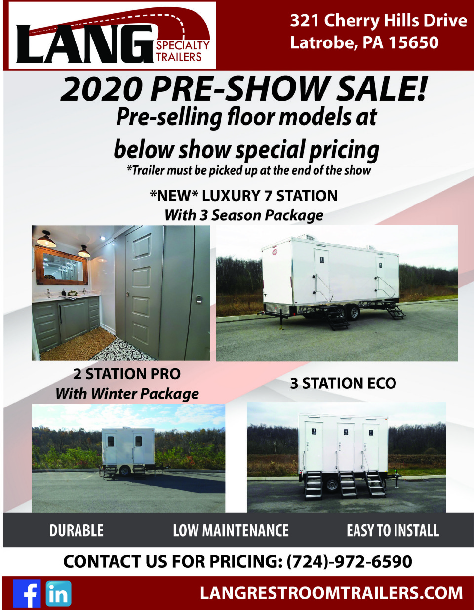 Don't Miss Out on Our PRE - WWETT Show Restroom Trailer Sale