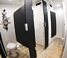 bathroom stalls in luxury portable restrooms for sale